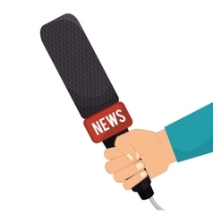 microphone news communication vector image