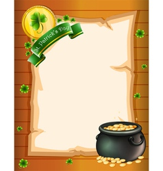 An empty stationery for St Patricks Day vector image