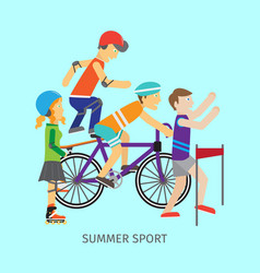 Summer sport concept in flat design vector