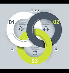 User interface template eps 10 vector