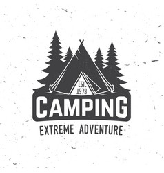 Camping extreme adventure vector