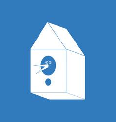 Icon bird house vector