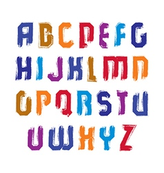 Handwritten contemporary uppercase letters doodle vector