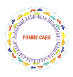 Funny frame with cars vector
