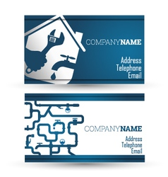 Business card repair waterpipe vector