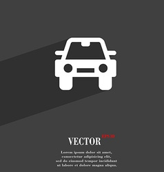 Auto icon symbol flat modern web design with long vector