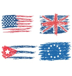 Flags drawn vector