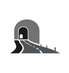 Road tunnel icon with underpass entrance vector