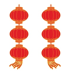 Chinese lantern garland vector