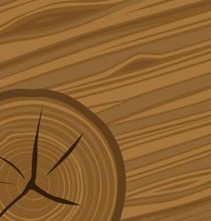 Cartoon woodgrain and wood rings vector