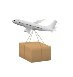 Air shipping concept vector
