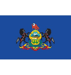 Pennsylvania flag vector image