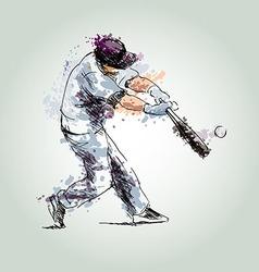 Colored hand drawing baseball vector