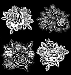 a set of compositions from monochrome colors vector image