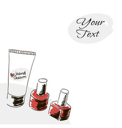 Banner cover doodle image hand drawing cream for vector