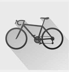 bicyle symbol vector image vector image