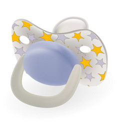 Blue orthodontic baby s dummy child pacifier or vector