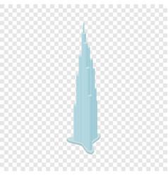 burj khalifa isometric icon vector image vector image