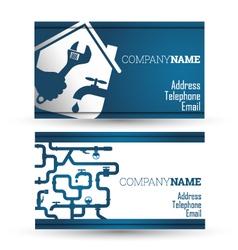 Business card repair waterpipe vector