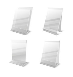 Business information transparent plexiglass empty vector