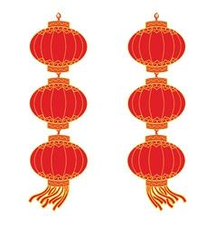 chinese lantern garland vector image vector image
