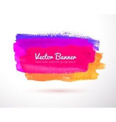 Colorful watercolor banner vector