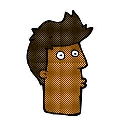 comic cartoon surprised man vector image vector image
