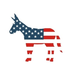 Democrat party isolated icon vector