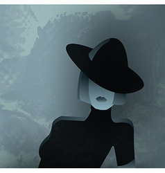 Fashion Textured Portrait of a Woman vector image vector image