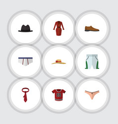 Flat clothes set of lingerie underclothes trunks vector