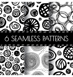 Hand Drawn Seamless Abstract Pattern vector image