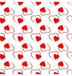 Heart color seamless pattern vector image vector image