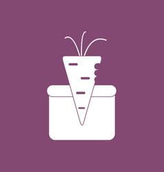 Icon turnip in soil vector