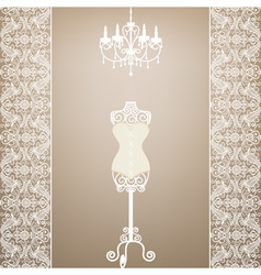 mannequin and chandelier vector image