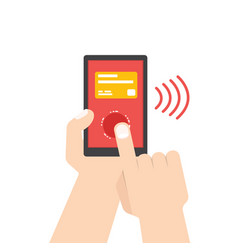 mobile payment e banking online payment use vector image