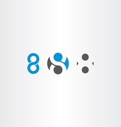 Number 8 eight sign symbol set vector