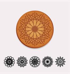 ornamental cork beer coaster vector image vector image