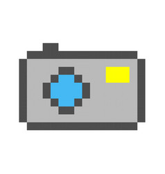 photo camera pixel art cartoon retro game style vector image vector image