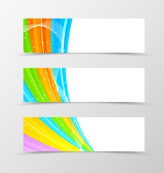 Set of header banner spectrum design vector