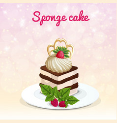 Sponge cake vector