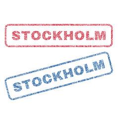 Stockholm textile stamps vector