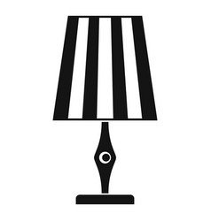 Table lamp icon simple style vector