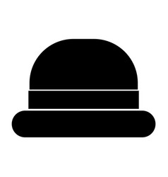 Vintage top hat black color icon vector