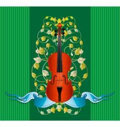 violin ribbon vector image vector image