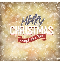 xmas lettering with golden lights vector image vector image