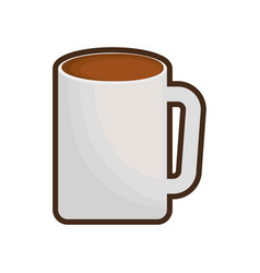 Mug coffee porcelain design vector