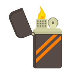 Cigarette lighter icon cartoon style vector