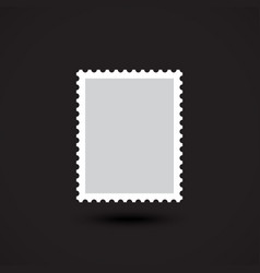 Blank postage stamp flat icon on black background vector