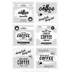 Set of retro vintage coffee label backgrounds vector