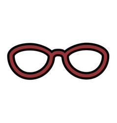Isolated elegant glasses vector